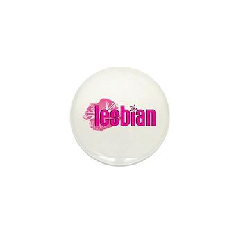 Lipstick Lesbian Mini Button (10 pack)