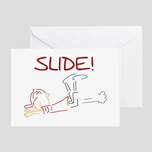Baseball Slide Greeting Card