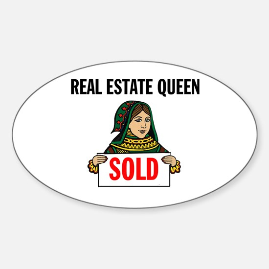 SALES QUEEN Oval Decal