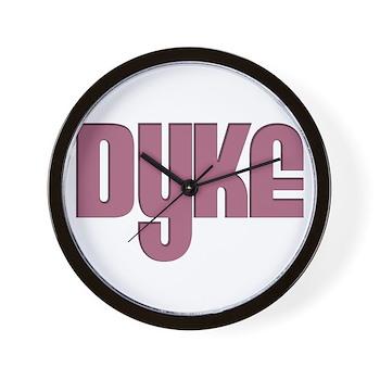 Pink Dyke Wall Clock
