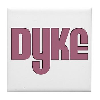 Pink Dyke Tile Coaster