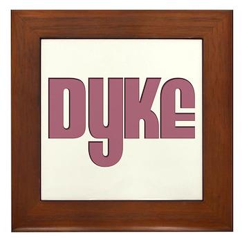 Pink Dyke Framed Tile