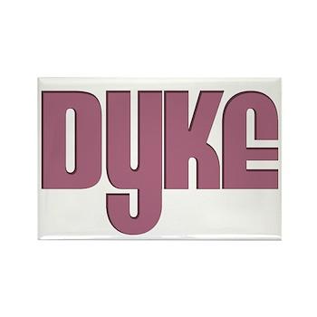 Pink Dyke Rectangle Magnet
