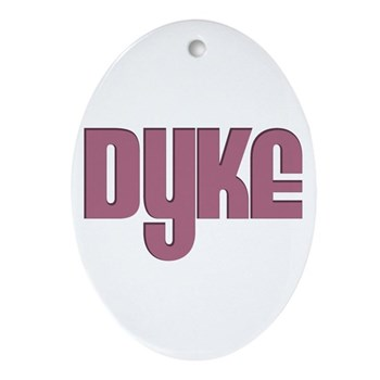 Pink Dyke Oval Ornament