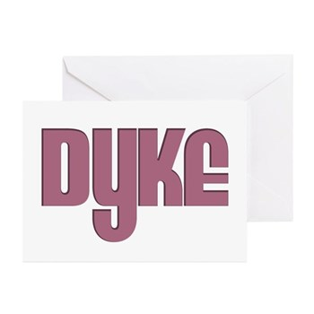 Pink Dyke Greeting Cards (10 pack)