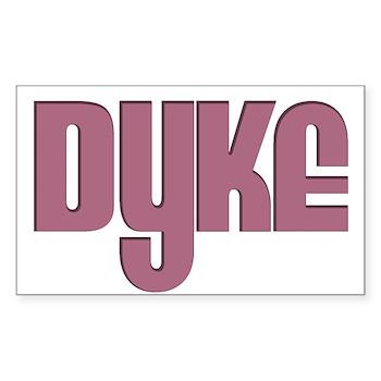 Pink Dyke Rectangle Sticker 10 pk)