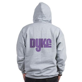 Purple Dyke Zip Hoodie
