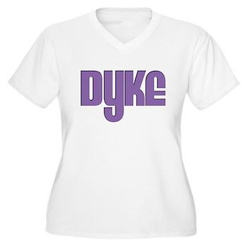 Purple Dyke Women's Plus Size V-Neck T-Shirt
