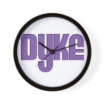 Purple Dyke Wall Clock