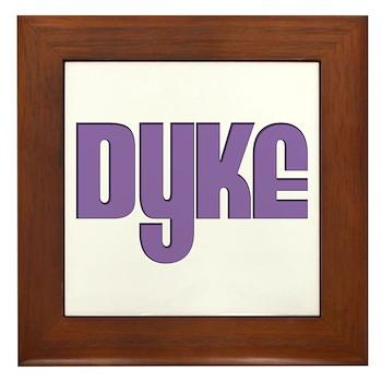 Purple Dyke Framed Tile