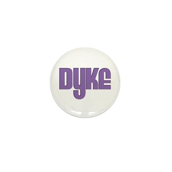 Purple Dyke Mini Button (100 pack)