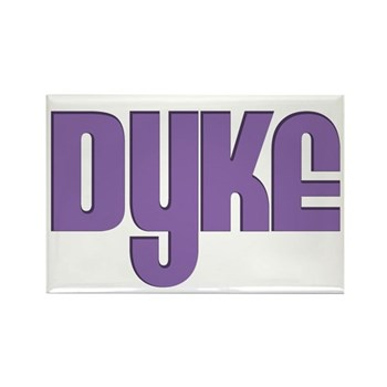 Purple Dyke Rectangle Magnet