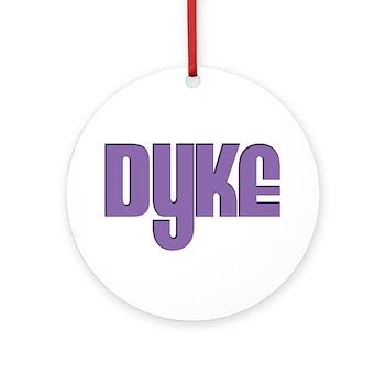 Purple Dyke Round Ornament
