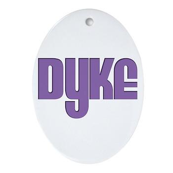 Purple Dyke Oval Ornament