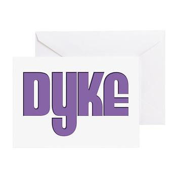 Purple Dyke Greeting Card
