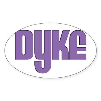 Purple Dyke Oval Sticker