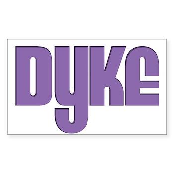 Purple Dyke Rectangle Sticker 50 pk)