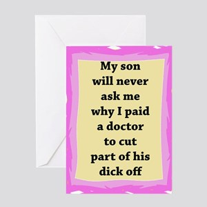 Intact: My Son Will Never As Greeting Card