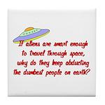 Smart Aliens Tile Coaster