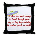 Smart Aliens Throw Pillow