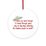 Smart Aliens Ornament (Round)