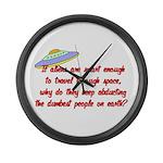 Smart Aliens Large Wall Clock