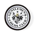 Gentlemen's Chess Club Wall Clock