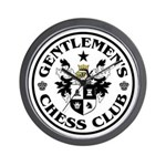 Gentlemen's Chess Club Wall Clock
