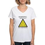 Warning: Addictive Sport Women's V-Neck T-Shirt