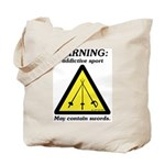 Warning: Addictive Sport Tote Bag