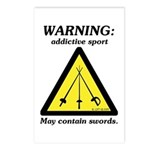 Warning: Addictive Sport Postcards (Package of 8)