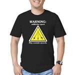 Warning: Addictive Sport Men's Fitted T-Shirt (dar