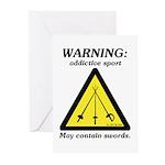 Warning: Addictive Sport Greeting Cards (Pk of 20)