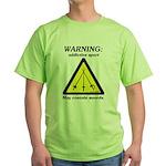 Warning: Addictive Sport Green T-Shirt