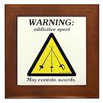 Warning: Addictive Sport Framed Tile