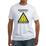 Warning: Addictive Sport Fitted T-Shirt