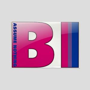 BI - Assume Nothing Rectangle Magnet