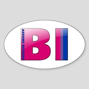 BI - Assume Nothing Oval Sticker