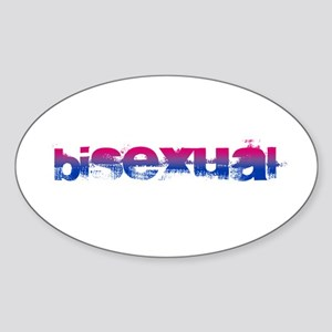 Grungy Bisexual Oval Sticker