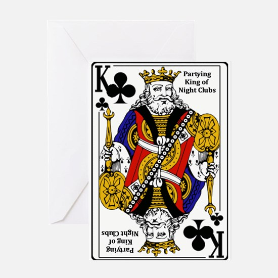 King of NIght Clubs Greeting Card
