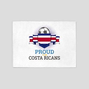 Football Costa Ricans Costa Rica So 5'x7'Area Rug