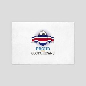 Football Costa Ricans Costa Rica Socce 4' x 6' Rug
