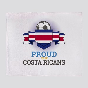 Football Costa Ricans Costa Rica Soc Throw Blanket