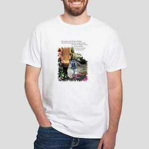Belgian Tervuren Art White T-Shirt