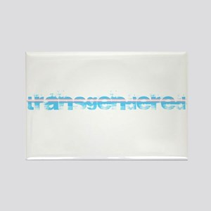 Grungy Transgendered Rectangle Magnet