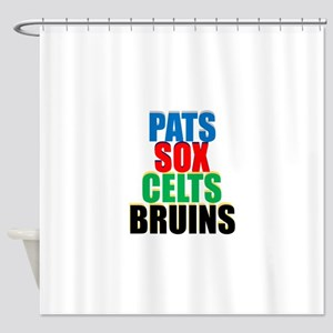 Boston Sports Teams Shower Curtain