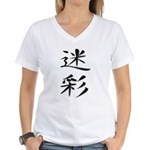 Camouflage - Kanji Symbol Women's V-Neck T-Shirt