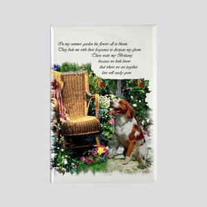 Brittany Spaniel Art Rectangle Magnet (10 pack)