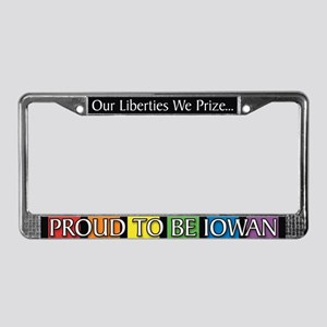 Proud To Be Iowan License Plate Frame