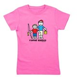 Grandpa fishing buddy Girl's Dark T-Shirt